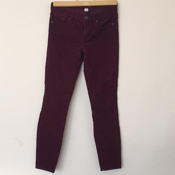 J. Crew Pants - J.Crew corduroy skinny leg pants.